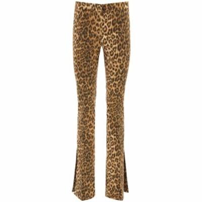 BLUMARINE/ブルマリン Mixed colours Blumarine leopard cotton trousers レディース 春夏2021 25236 ik