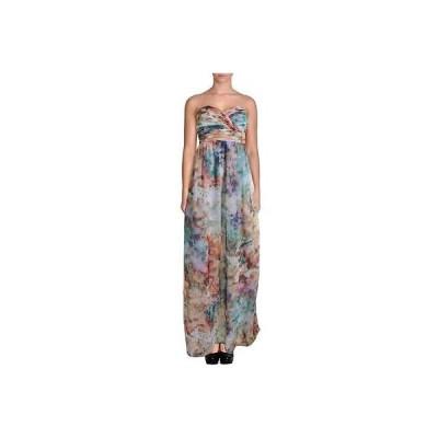 ドレス 女性  アクア アクア 3342 レディース ストラップless Full Length Pleated Maxi ドレス