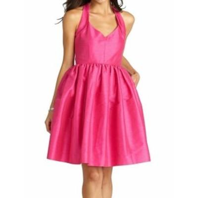 Donna Morgan ドナモーガン ファッション ドレス Donna Morgan NEW Pink Womens Size 6 A-Line Shantung Fit & Flare Dress