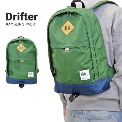 Drifter ドリフター リュック RAMBLING PACK バックパック 鞄 BACKPACK BAG USAモデル グリーン/ネイビー