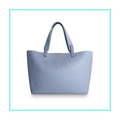 Katie Loxton Piper Womens Soft Vegan Leather Double Shoulder Strap Tote Bag Powder Blue