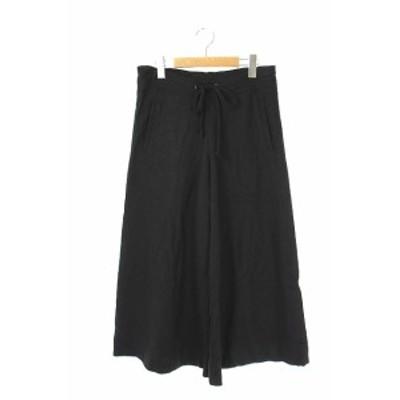 【中古】トラディショナルウェザーウェア Traditional Weatherwear ワイドイージーパンツ ウール XS 黒  レディース