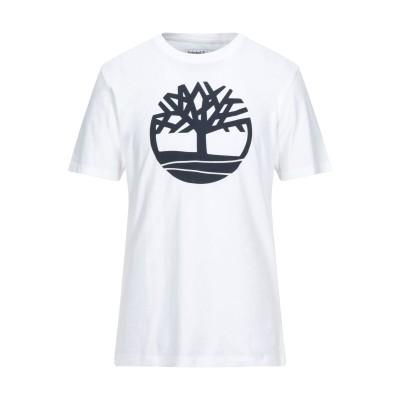 ティンバーランド TIMBERLAND T シャツ ホワイト M オーガニックコットン 100% T シャツ