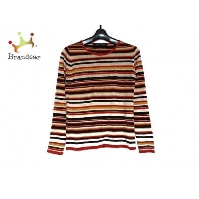 マリナリナルディ 長袖セーター サイズXS レディース 美品 ベージュ×ダークブラウン×マルチ 新着 20200302