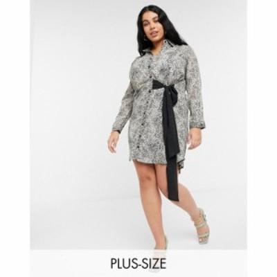 ココ Koko レディース ワンピース ワンピース・ドレス Leopard Print Belt Bow Dress レオパード