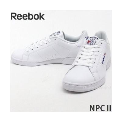リーボック エヌピーシー II Reebok NPC II スニーカー シューズ メンズ クラシック MENS レトロ ローカット 名作 カラー:WHT/WHT