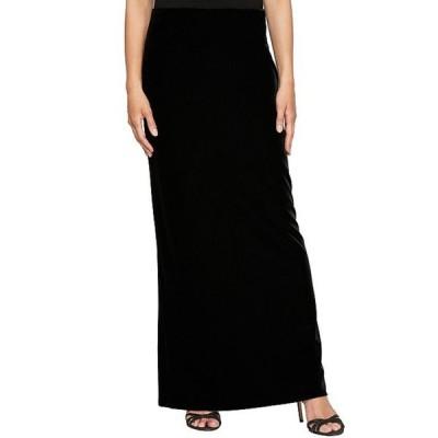 アレックスイブニングス レディース ワンピース トップス Stretch Velvet Fishtail Hem Long Skirt