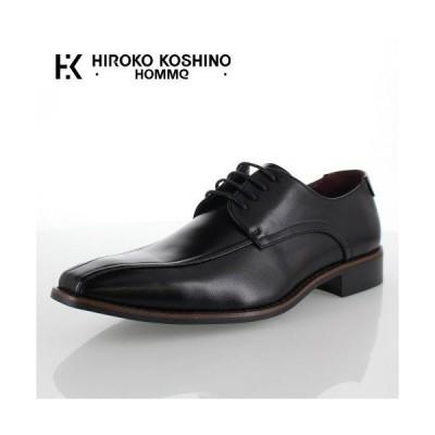 ヒロコ コシノ オム HIROKO KOSHINO HOMME HK9803 ブラック メンズ 靴 ビジネスシューズ スワールモカ 外羽式  3E