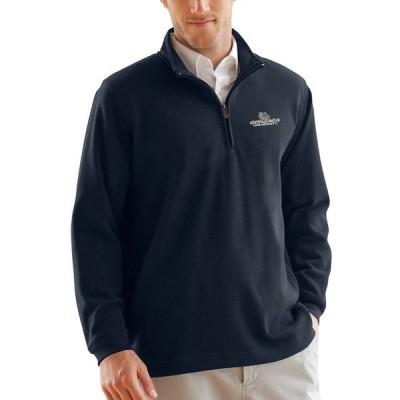 """スウェット """"Gonzaga Bulldogs"""" Flat-Back Rib 1/4-Zip Pullover Sweater - Navy"""
