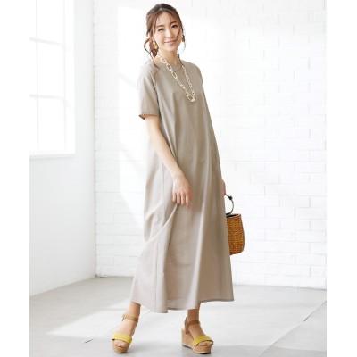 大きいサイズ 綿麻Aラインマキシワンピース(OtonaSMILE) ,スマイルランド, ワンピース, plus size dress