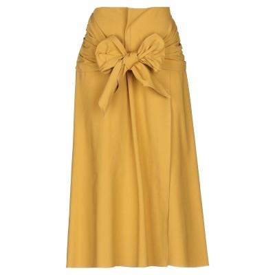 ブルネロ クチネリ BRUNELLO CUCINELLI 7分丈スカート オークル 42 コットン 100% 7分丈スカート