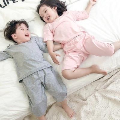 子どもパジャマ 男の子女の子 子供パジャマ 半袖 夏用 上下セット ハーフパンツ 可愛い キルト 寝間着 ルームウェア 部屋着 ナイトウェア ユニセックス
