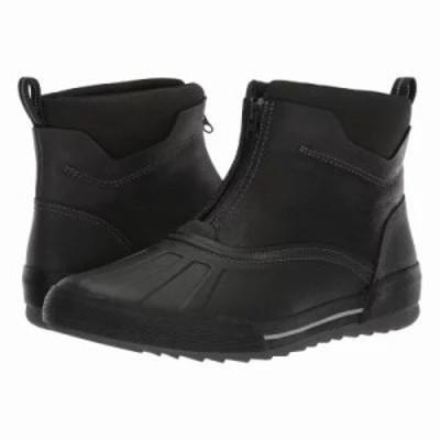 クラークス レインシューズ・長靴 Bowman Top Black Waterproof Leather