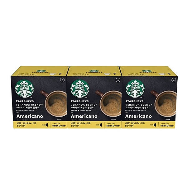 Starbucks 星巴克 閑庭 美式 咖啡膠囊 3盒36顆
