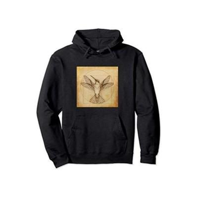 Leonardo Da Vinci Hummingbird Retro Vintage Design Styleup パーカー