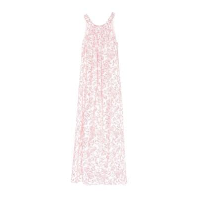 STEFANEL ロングワンピース&ドレス レッド 40 麻 100% ロングワンピース&ドレス