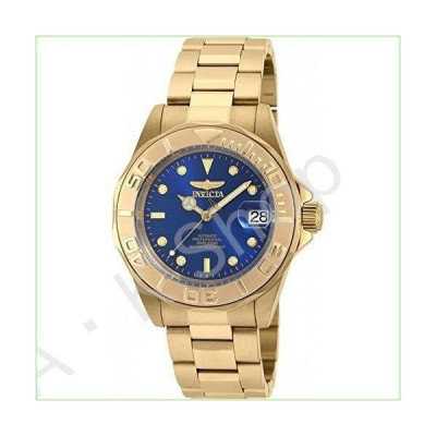 Invicta Men's Pro Diver Automatic-self-Wind Watch with Stainless-Steel Strap, Gold, 20 (Model: 90186)--並行輸入品--
