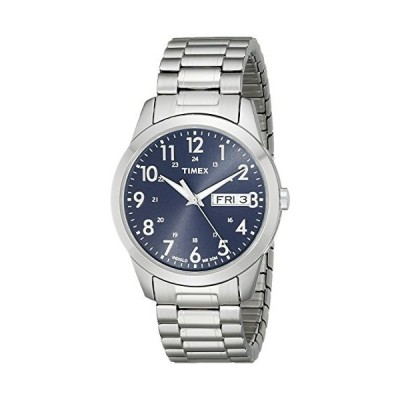 Timex Men's T2M933 South Street Sport Blue/Silver-Tone Stainless Steel Expansion Band Watch【並行輸入品】