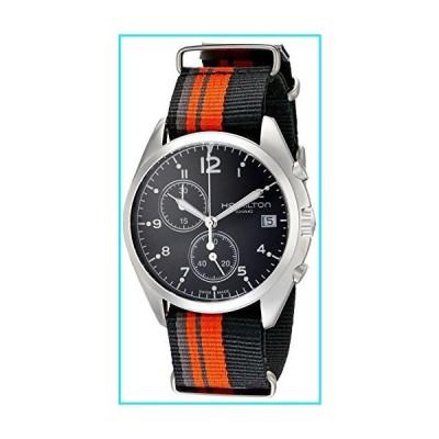 Hamilton Men's H76552933 Khaki Aviation Stainless Steel Watch with Striped Canvas Strap【並行輸入品】