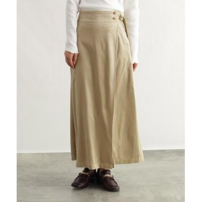 OZOC(オゾック) [洗える]春コーデュロイマキシスカート
