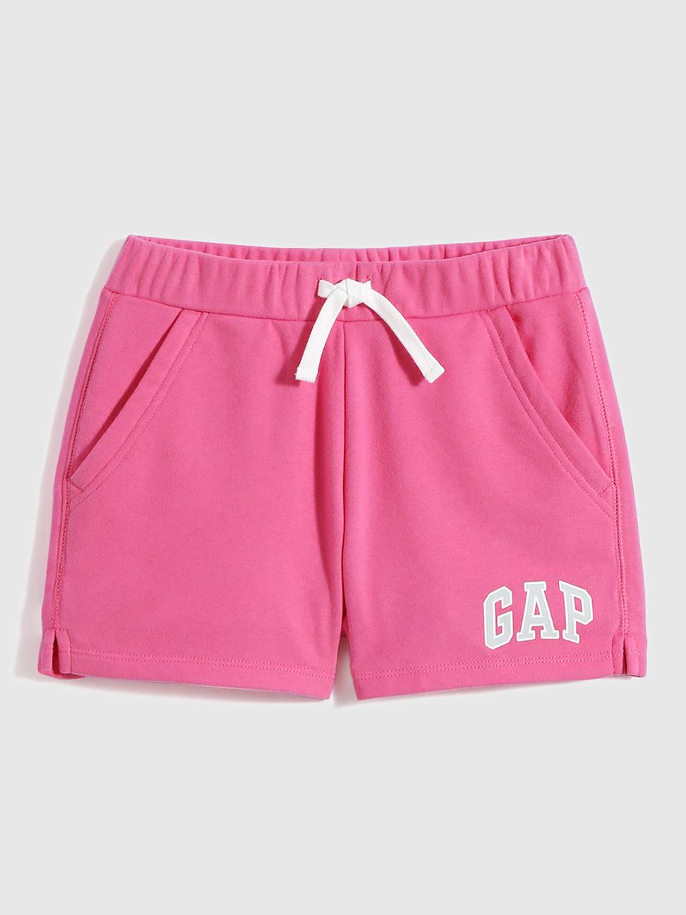 女童 Logo棉質法式圈織短褲