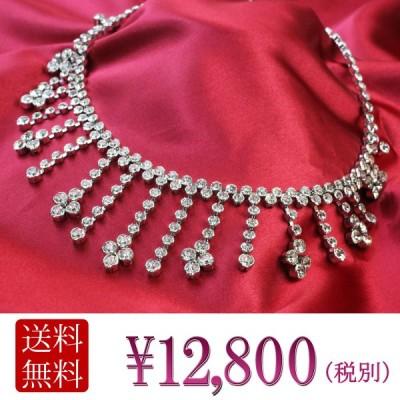 チョーカー ネックレス necklace レディース ネックレス チェーン ネックレス スワロフスキー ネックレス 結婚式 シルバー