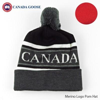 CANADA GOOSE カナダグース メリノウール ロゴ ニット帽 帽子 6193M
