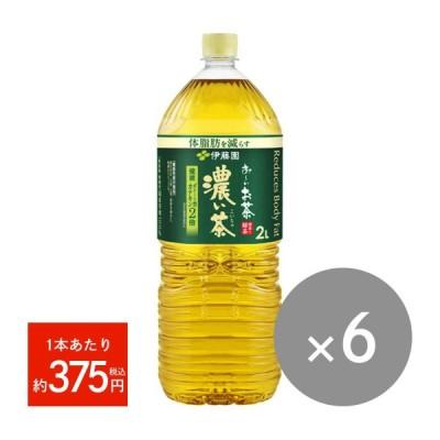 お〜いお茶 濃い茶(2Lペットボトル)6本
