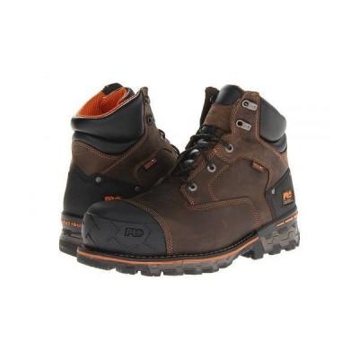 """Timberland PRO ティンバーランド メンズ 男性用 シューズ 靴 ブーツ 安全靴 ワーカーブーツ Boondock WP 6"""" Comp Toe - Brown"""