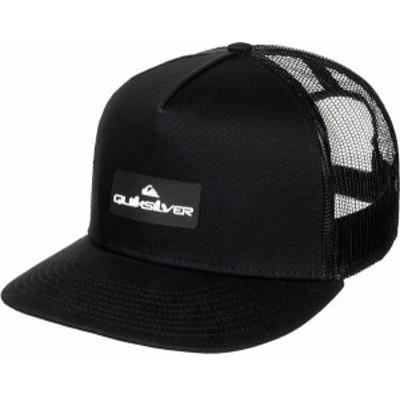 クイックシルバー メンズ 帽子 アクセサリー Quiksilver Men's Lockerbees Trucker Hat Black