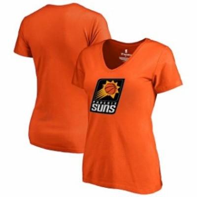 Fanatics Branded ファナティクス ブランド スポーツ用品  Fanatics Branded Phoenix Suns Womens Orange Primary Logo V-Neck T-Shirt