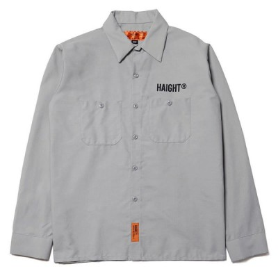 HAIGHT ヘイト SMOKERS CLUB WORK SHIRT FT RAT HOLE STUDIO ワークシャツ HT-RH204001 LIGHT GRAY ライトグレー