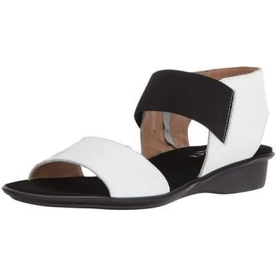 Sesto Meucci Women's Eirlys White Saratoga/Black Elastic 9 M US
