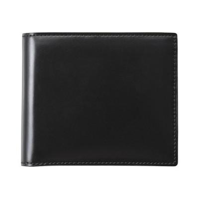 コードバン二つ折財布(ブラック) K11309244