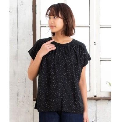 tシャツ Tシャツ レーヨンドットブラウス【大きいサイズ対応】【9号(M)〜15号(3L)】