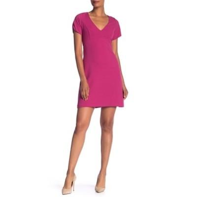 ベッツィジョンソン レディース ワンピース トップス V-Neck Crepe Dress PINK