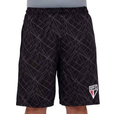サンパウロFC公式グラフィックハーフパンツ SAO PAULO FC ブラック×グレー(P(日本サイズS〜M))