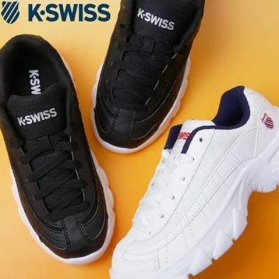 ケースイス K-SWISS 厚底スニーカー メンズ ST129 S ローカット ダッドシューズ ダッドスニーカー チャンキーソール145 ホワイト 白 001 ブラック 黒 06783