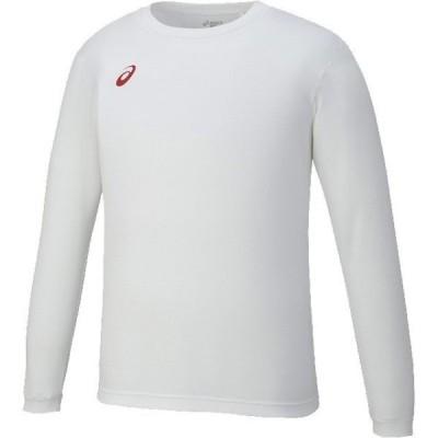 【送料290円】アシックス ロングスリーブシャツ ホワイト×レッド asics XA6189 0123