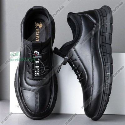 スニーカー メンズ 革靴 本革 通気 スポーツシューズ ビジネス トレーニング 冠婚葬祭 靴 通勤 履きやすい 本革 通学 メンズシューズ ウォーキング 軽量