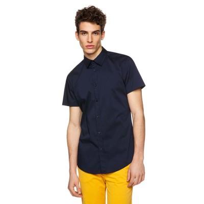 (BENETTON (mens)/ベネトン メンズ)半袖ドレスシャツ/メンズ ネイビー