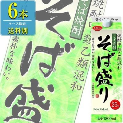 合同酒精 そば盛り そば焼酎 25% 1.8Lパック x 6本ケース販売 (焼酎甲類乙類混和)