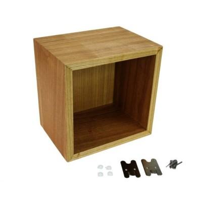 木製壁掛けウッドボックス 小 <br>【ハイロジック】