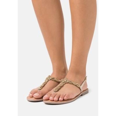 キシタイ サンダル レディース シューズ T-bar sandals - gold