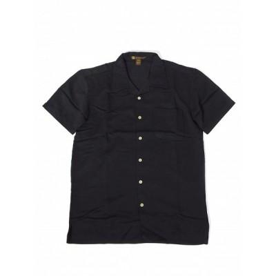 HARRITON RAYON OPEN COLLAR SHIRTS BLACK ハリトン レーヨン オープンカラー シャツ ブラック 通販