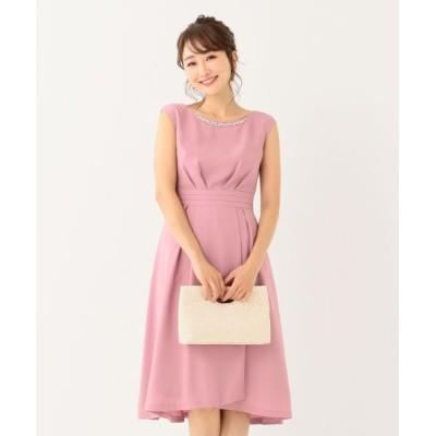 L size ONWARD(大きいサイズ)/エルサイズオンワード 【洗える】エレガントジュエル ドレス ピンク系 4