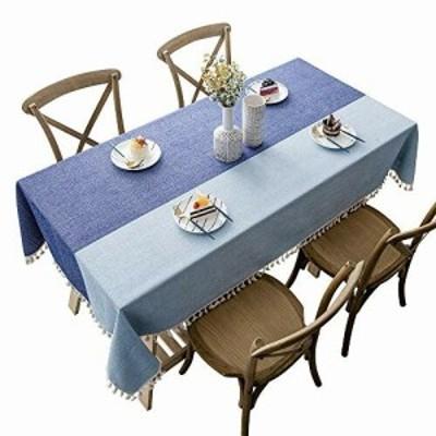 CHOZAN テーブルクロス コットンリネン材質 耐用 肌触り良い タッセルエッジ おしゃれ 汚れ防止 インテリア キッチン/ダイニング/リビン