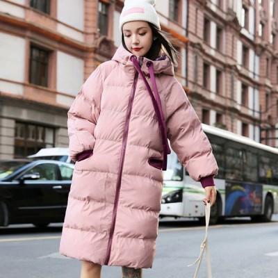 ロング丈ダウンコート20代  30代 40代 人気ダウンジャケット大きいサイズ  中綿ジャケットレディース 軽量コート秋冬服コート 暖かい