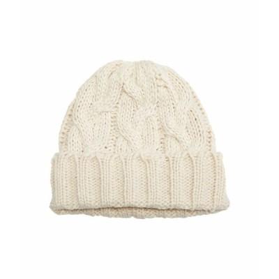 ハットアタック 帽子 アクセサリー レディース Fisherman Cable Hat Ivory