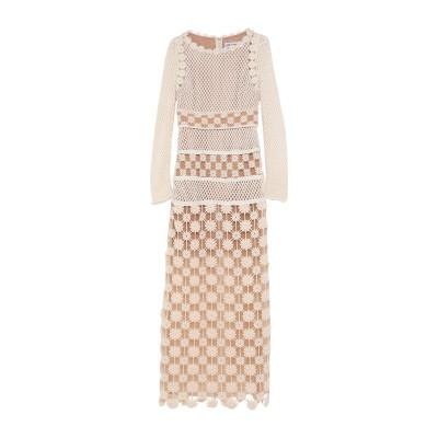 SELF-PORTRAIT ロングワンピース&ドレス アイボリー 6 ポリエステル 100% ロングワンピース&ドレス